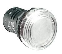 Индикатор щитовой 22 мм белый 24 AC/DC 8LP2TILB8P